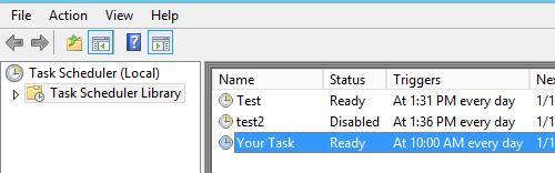 Execute SQL script using Windows Task Scheduler – Senthamizh